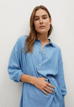 Mango - Vestido camisero - azzurro