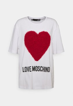 Love Moschino - T-shirt con stampa - white