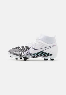 Nike Performance - MERCURIAL JR 7 ACADEMY MDS FGMG UNISEX - Chaussures de foot à crampons - white/black