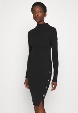 Vila - VISOLTO BUTTON DRESS - Vestido de tubo - black