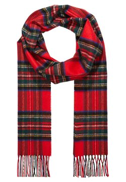 Johnstons of Elgin - 100% Cashmere Tartan Scarf - Szal - red