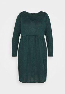 Evans - V NECK DRESS - Strickkleid - green