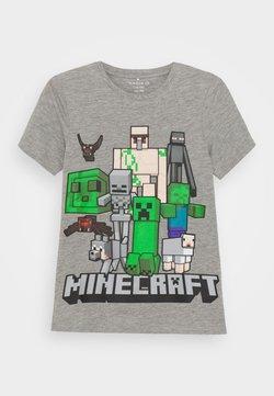 Name it - NKMMINECRAFT ARTHUR - T-shirt con stampa - grey melange