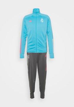adidas Performance - REAL MADRID AEROREADY FOOTBALL TRACKSUIT SET - Club wear - brcyan