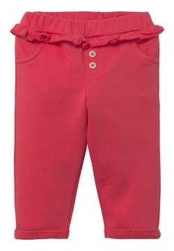 TOM TAILOR - MIT GERÜSCHTEM BUND - Legging - geranium/red