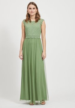 Vila - VILYNNEA MAXI DRESS - Ballkleid - loden frost