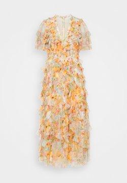 Needle & Thread - SUNSET GARDEN V NECK BALLERINA DRESS - Vestido largo - ivory