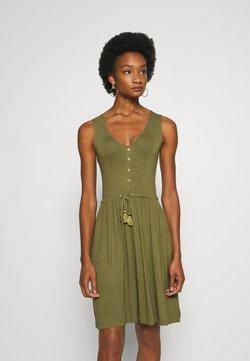 Anna Field - BASIC JERSEYKLEID - Vestido ligero - olive night
