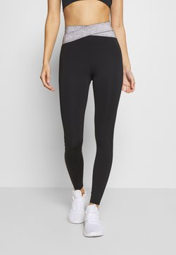 Even&Odd active - HIGH WAIST BANDED LEGGING - Tights - metallic grey