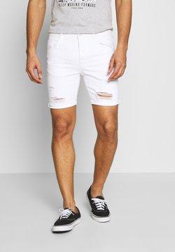 Gym King - Jeansshort - white
