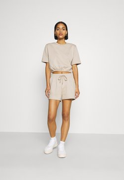 Nly by Nelly - PUFFY TEE SET - T-Shirt basic - beige