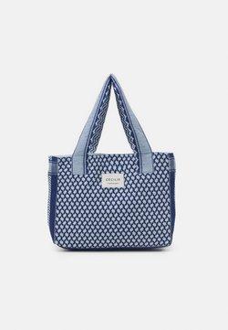 CECILIE copenhagen - BAG SMALL SIGNATURE - Shoppingväska - twilight blue