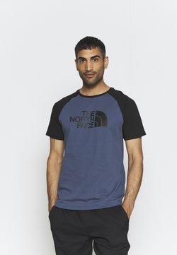 The North Face - RAGLAN EASY TEE - T-shirt med print - vintage indigo