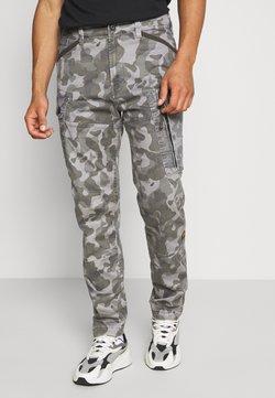 G-Star - ROXIC STRAIGHT TAPERED PANT - Pantalon cargo - black/dark grey