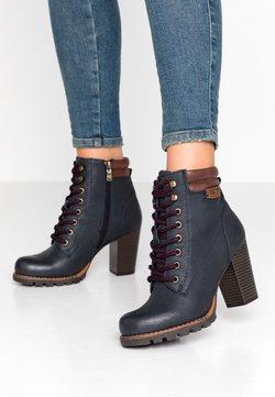 TOM TAILOR - Boots à talons - navy