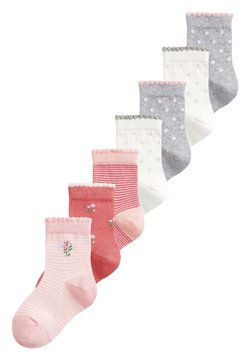 Next - 7 PACK PRETTY - Calcetines - pink