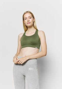 Smilodox - SEAMLESS DAMEN BRA BLOOM - Sport BH - olive