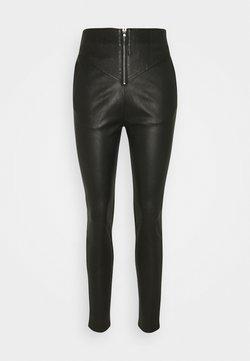 Ibana - PALMER - Pantalon en cuir - black