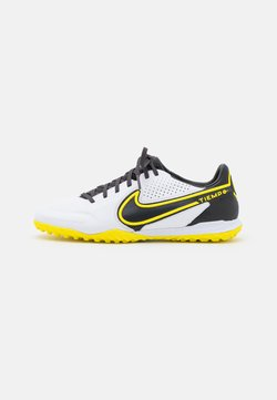 Nike Performance - REACT TIEMPO LEGEND 9 PRO TF - Korki Turfy - white/dark smoke grey/black/yellow strike