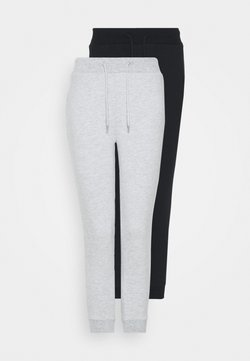 Even&Odd Petite - 2 PACK - Jogginghose - black/grey
