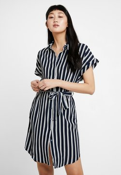 Vero Moda - VMSASHA DRESS - Blusenkleid - navy blazer/snow white