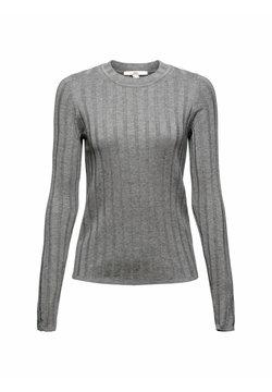 edc by Esprit - ROUND NECK FITTED SW - Sweatshirt - medium grey