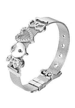 Heideman - ARMBAND MESH - Armband - silberfarben