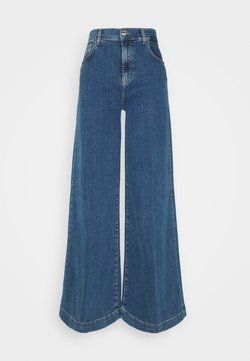 Liu Jo Jeans - PANT FLARE BROAD - Flared Jeans - denim blue fringed