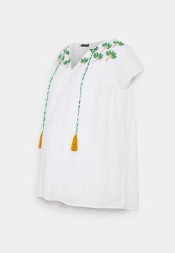 Mara Mea - CLIMBING PALMS - T-shirt con stampa - white