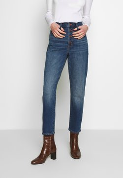 Madewell - PERFECT VINTAGE BUTTON FRONT - Jeans Straight Leg - barnsdale wash