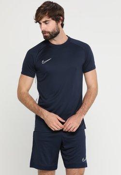 Nike Performance - DRY ACADEMY - T-Shirt print - obsidian/white