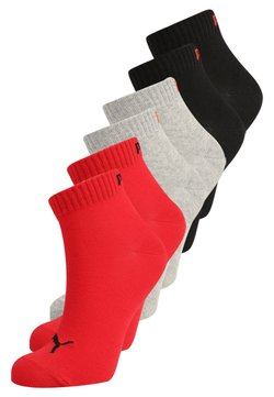Puma - QUARTER 6 PACK - Sportsocken - black/red