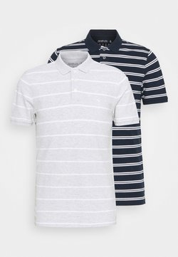 Abercrombie & Fitch - 2 PACK - Poloshirt - navy/grey
