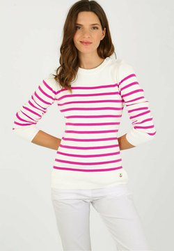 Armor lux - GROIX  - Strickpullover - white/neon pink