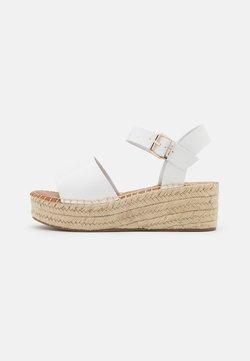 ALDO - ABEARITH - Korkeakorkoiset sandaalit - white