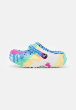 Crocs - CLASSIC LINED TIEDYE  - Matalakantaiset pistokkaat - powder blue/multicolor
