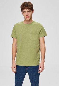 Selected Homme - Basic T-shirt - sage