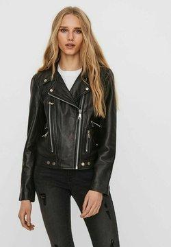 Vero Moda - Leren jas - black