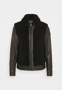 Belstaff - GRIZZLY JACKET - Leather jacket - dark brown