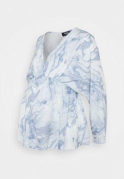 Missguided Maternity - MARBLE PRINT KIMNO SLEEVE TOP - Overhemdblouse - blue