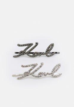 KARL LAGERFELD - SIGNATURE HAIR CLIPS 2 PACK - Accessori capelli - silver-coloured