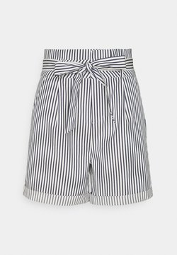 Vero Moda Tall - VMEVA PAPERBAG  - Shorts - snow white/navy blazer