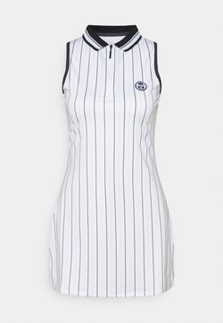 sergio tacchini - PARIS DRESS - Robe de sport - blanc de blanc/blue depths