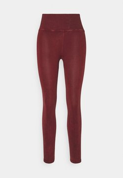 Free People - GOOD KARMA LEGGING - Medias - wine