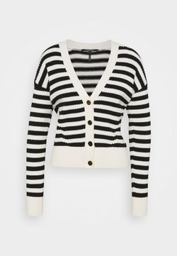 Scotch & Soda - CHUNKY CARDIGAN - Strickjacke - offwhite/black