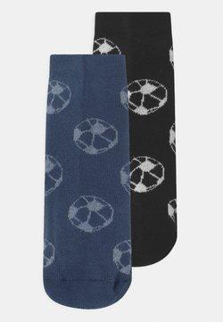 Ewers - SOFTSTEPS SOCCER 2 PACK - Calcetines - blue/black