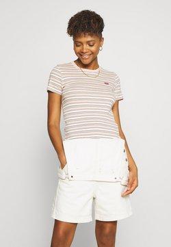 Levi's® - BABY TEE - T-Shirt print - beige/white