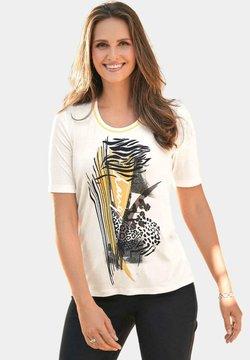 ATELIER GS - T-Shirt print - weiß/gemustert