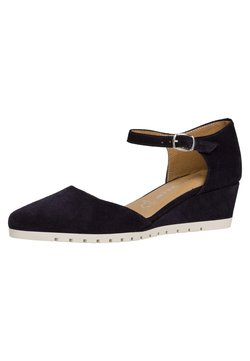 Tamaris - WOMS SLIP-ON - Keilpumps - navy suede
