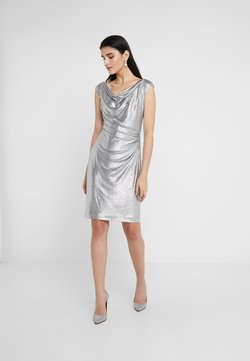 Lauren Ralph Lauren - GLISTENING COCKTAIL DRESS - Vestito elegante - dark grey/silver
